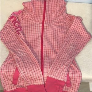 Tops - 🔥Sale🔥Bench pink and white checkered hoodie